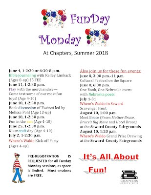 Funday Monday schedule